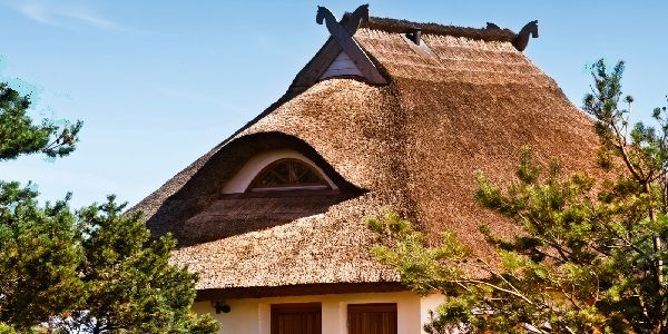 Triangular Home Design with Modern Exterior Shapes and Triangle Shaped House Design with Thatched Roof