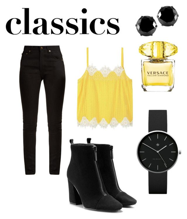 classics by chiara30stm on Polyvore featuring polyvore fashion style Violeta by Mango Yves Saint Laurent Newgate West Coast Jewelry Versace clothing