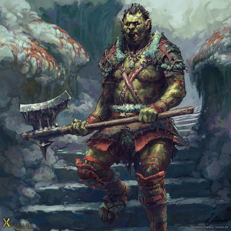 Orc Warrior, Markus Neidel on ArtStation at http://www.artstation.com/artwork/ork-e6ec106d-b0be-4fc4-9cd7-64f8c7b91513