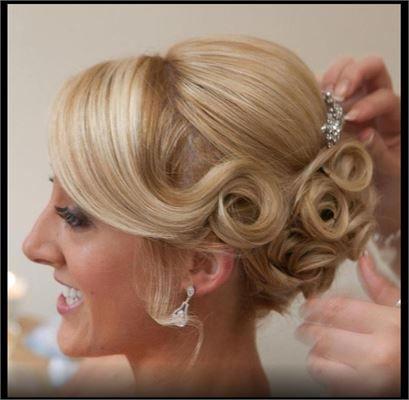 Soft pinned curls - Amanda croke hair design