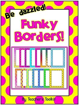 {Freebie} Funky Borders! Commercial Use OK....Follow for Free 'too-neat-not-to-keep' teaching tools other fun stuff :)