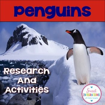Penguins; Penguin Research and Activities - Nonfiction Study; penguin informational text; This Penguin informational text unit is a full of research activities about penguins and contains nonfiction text features. I've even added a precious editable Jeopardy Powerpoint game about penguins. $