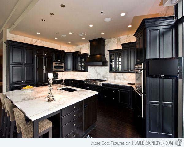 25+ best ideas about Black kitchen cabinets on Pinterest   Black ...