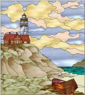 Stained Glass Pattern Lighthouse Point