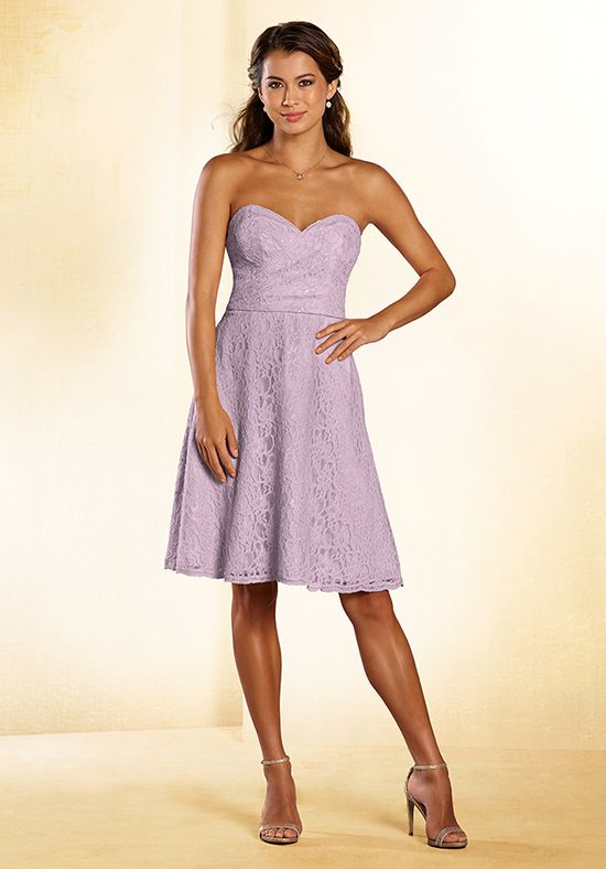 Short Strapless Purple Bridesmaid Dress | Style 538 by Alfred Angelo |  http://trib.al/oA8XaUy