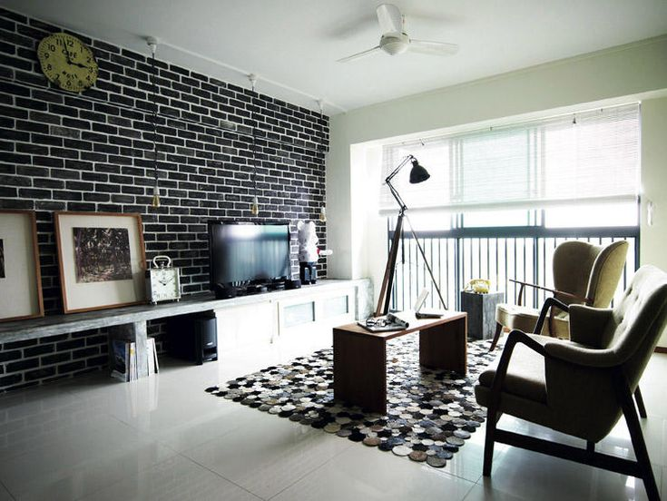 Black Feature Wall Living Room here's what $50,000 renovation can do for your hdb flat | brick