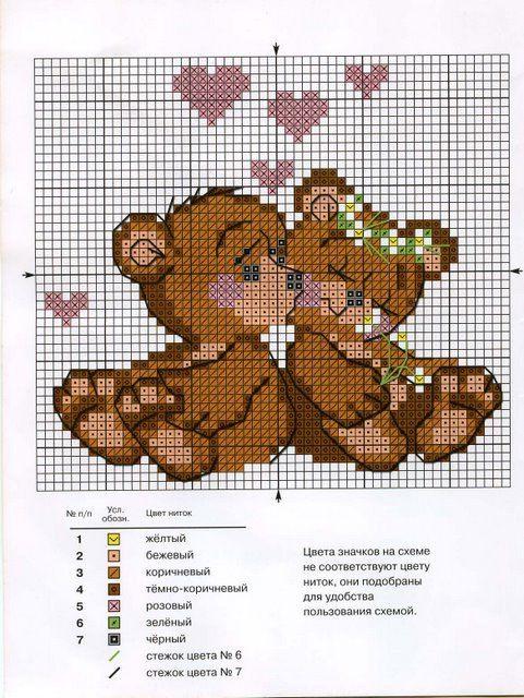 Cross-stitch Teddy Bear Love...   Gallery.ru / Фото #231 - Для детей - gada