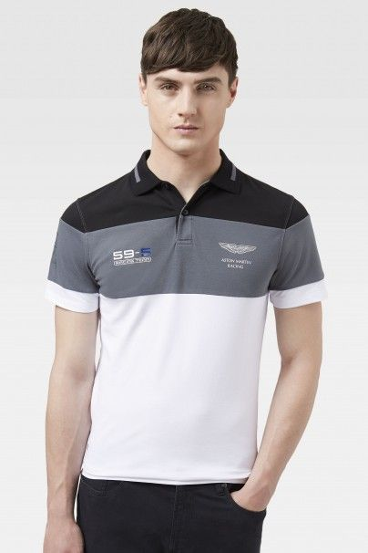 Aston Martin Racing Three Panel Polo - Polo Shirts & Rugby - Shop By Product - Men | Hackett