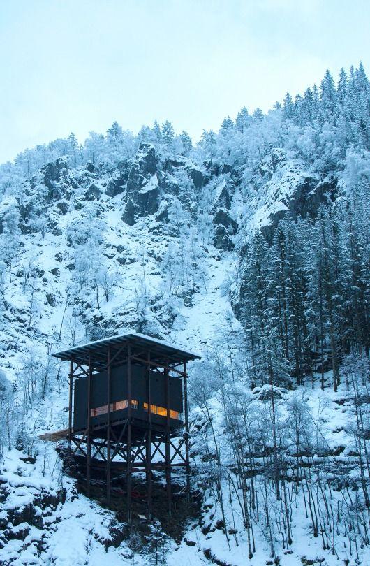Zinc Mine Museum - The Café | Peter Zumthor Location: Allmannajuvet, Norway | Photo by Arne Espeland