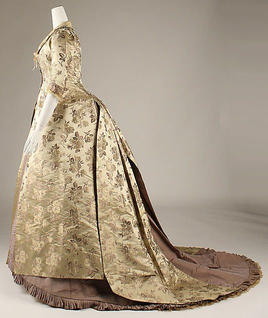 Dress  Date: 1878–80 Culture: American Medium: silk Dimensions: [no dimension