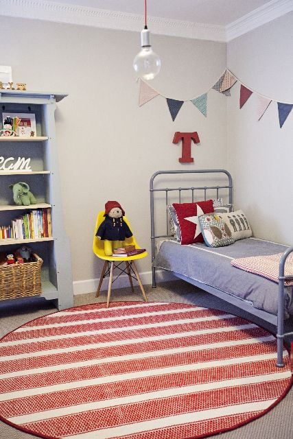 What a brilliant idea! The very talented ladies at Boutique Yellow took a 200 x 290cm Bondi flatweave rug, and turned it into this gorgeous round rug for a fun kids room! Check out more from Boutique Yellow on http://boutiqueyellow.com.au/  #TheRugCollection