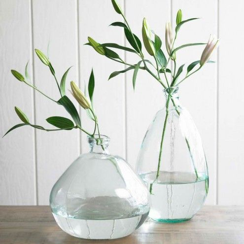 Recycled Glass Balloon Vases - Classically Clear | VivaTerra