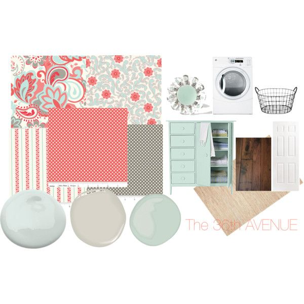 inspiration  board - LIGHT blue and red