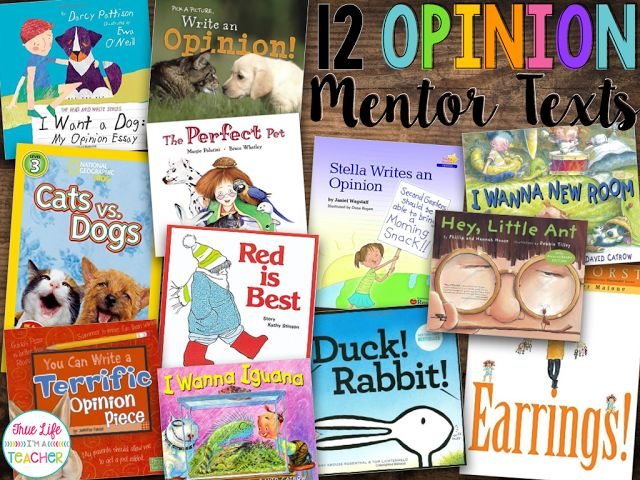 EEEK! We started opinion writing last week...only my favorite writing genre to teach!   I've got my favorite mentor texts ready to go, and e...
