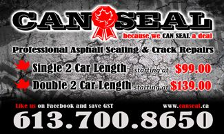 Best in the business, honest, meticulous, clean, organized. You won't find a better group anywhere, call them for a quote and check them out at www.canseal.ca