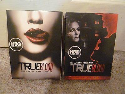 HBO True Blood Season 1 2 DVD box sets series lot
