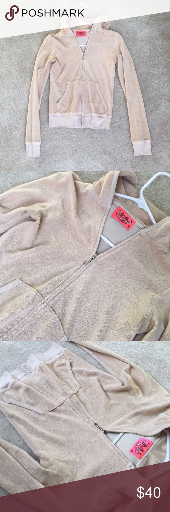 JUICY COUTURE petite zip up JUICY COUTURE petite zip up hoodie Juicy Couture Tops Sweatshirts & Hoodies