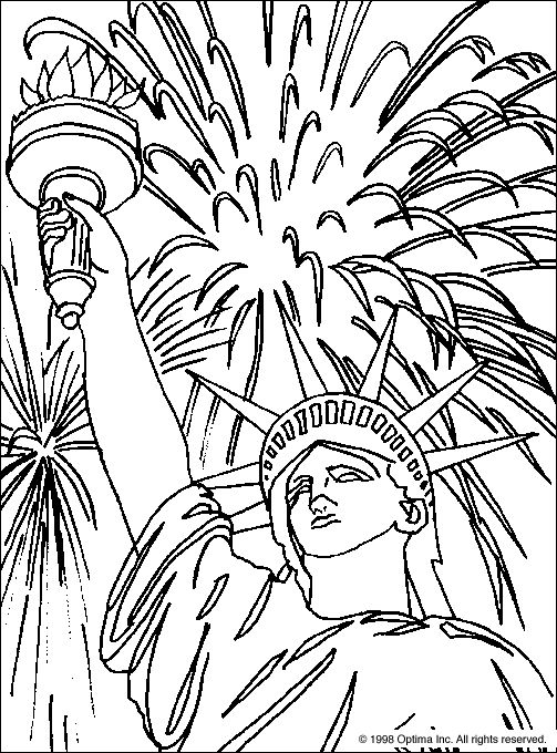 July 4 Coloring Pictures : Best 25 statue of liberty drawing ideas on pinterest
