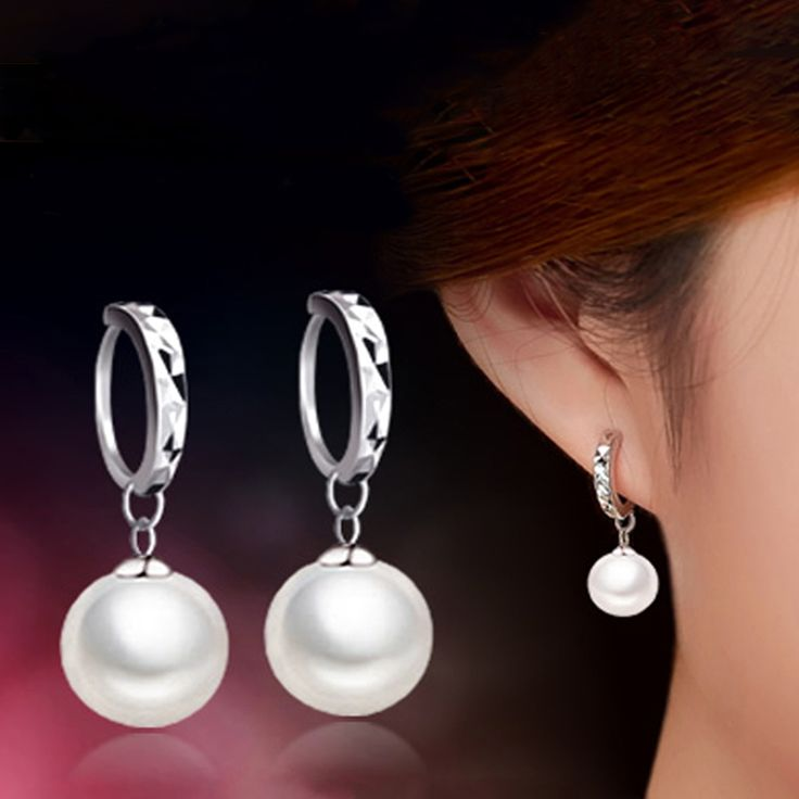 Stud Earrings  2017 Fashion High Quality Women AAA Pearl Stud Earrings Mirror Design Grade Party Ear Bead Jewelry ** This is an AliExpress affiliate pin.  Find similar products on AliExpress website by clicking the image