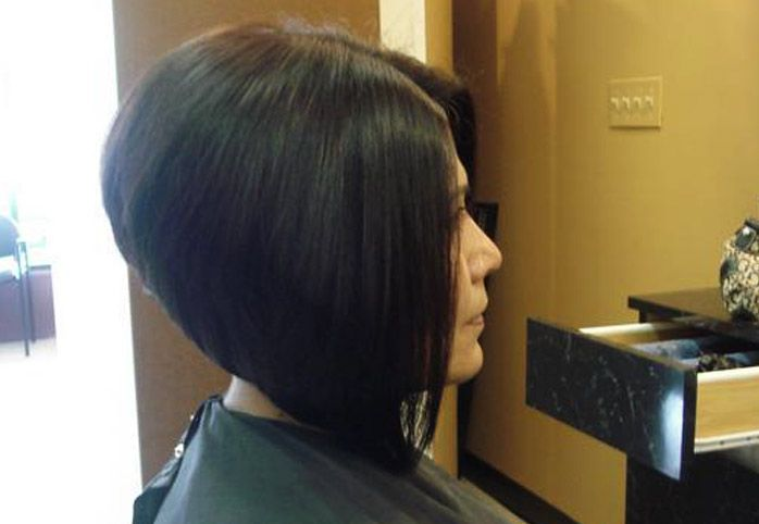 A Line Stacked Bob Haircut Pictures Hairxstatic Angled