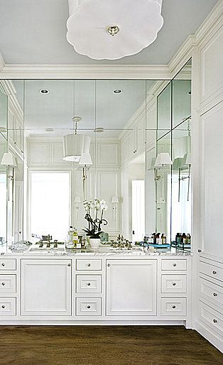 Gallery One maybe we should do this in our bathroom mount light fixures to mirror u