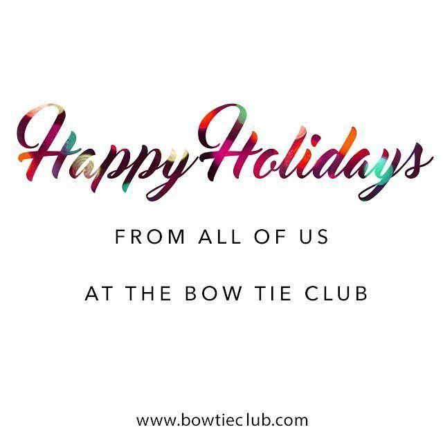 Happy Holidays from all of us at The Bow Tie Club!  Www.bowtieclub.com . . . . . . . . . . . . . . .  #bowtie #bowties #thebowtieclub #handmade #bowtiethursday #beardgang #bowtiegame #streetstyle #styleblog #fashionblogger #dapper #mensfashion #mensfasionpost #formal #merrychristmas #bowtiewednesday #mensfashiontips #menstyle #beard #bowtiefriday #bowtiesarecool #bowtiesociety #bespoke #bowtiefashion #bowtietuesday #happynewyear #weddings #americanmade #bowtieswag #bowtieoftheday…