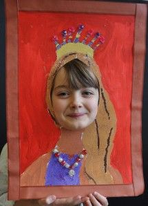 Flo Portrait roi reine peinture atelier de flo