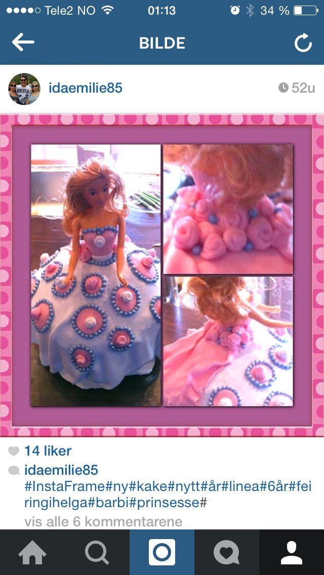 Bursdag, barbie,rosa,lilla,roser, kjole