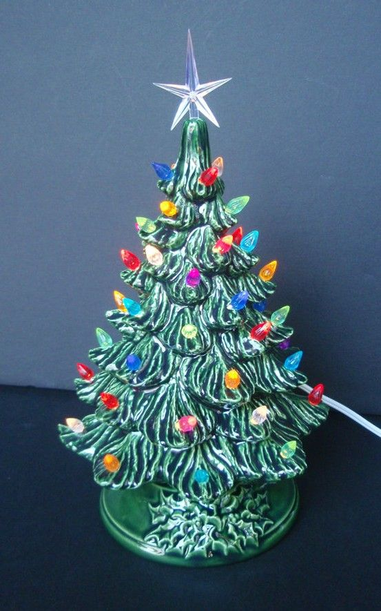 Does anyone remember their mom or grandma proudly displaying one of these beauties for christmas?? Yes!!! My mom had one!