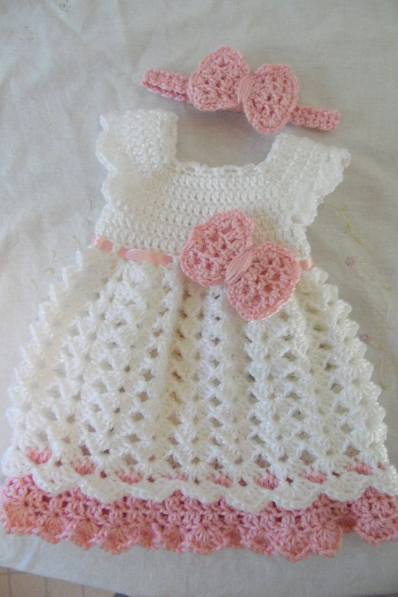 Newborn Baby Girl Dress & Headband Set  Made to Order Infant