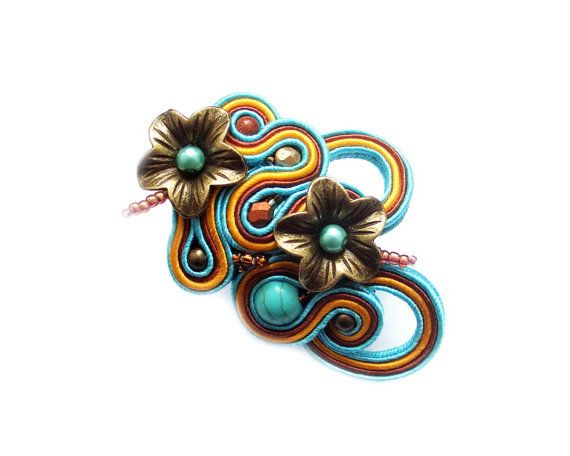 Soutache ring   bold and unusual Winterfell Winter by rododendron7, $25.00