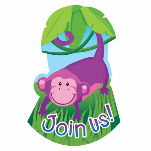 Jungle animal party invitations http://www.wfdenny.co.uk/p/jungle-animals-invitations/3385/