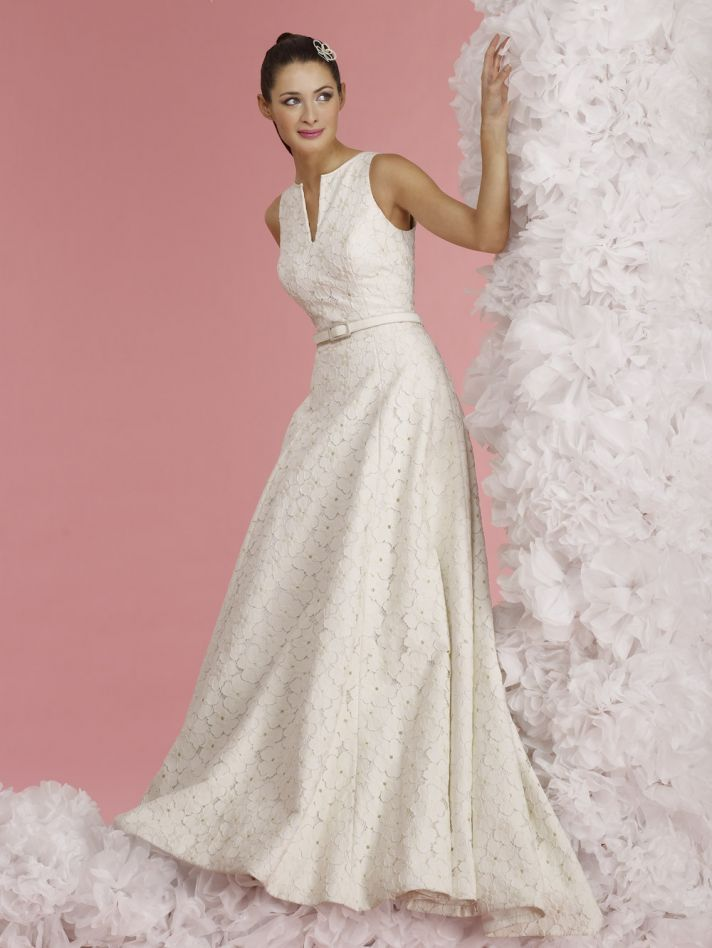 vintage inspired wedding dress 2012 bridal gowns steven birnbaum collection callie