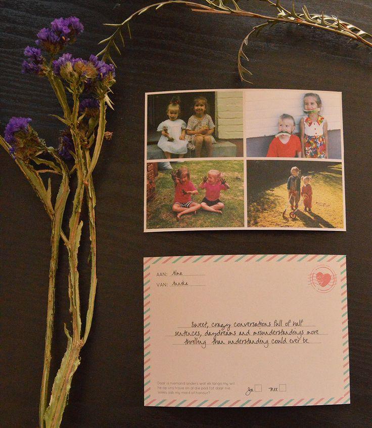 Will you be my bridesmaid postcard by www.hestiastationery.co.za