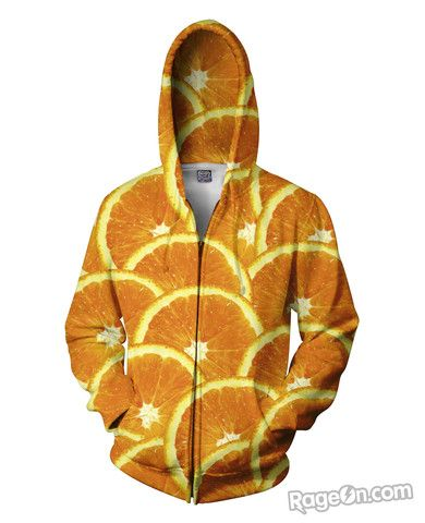 Oranges Zip-Up Hoodie - RageOn! - The World's Largest All-Over-Print Online Store