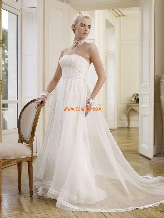 Kapel Sleep Voorjaar Mouwloos Bruidsmode 2014