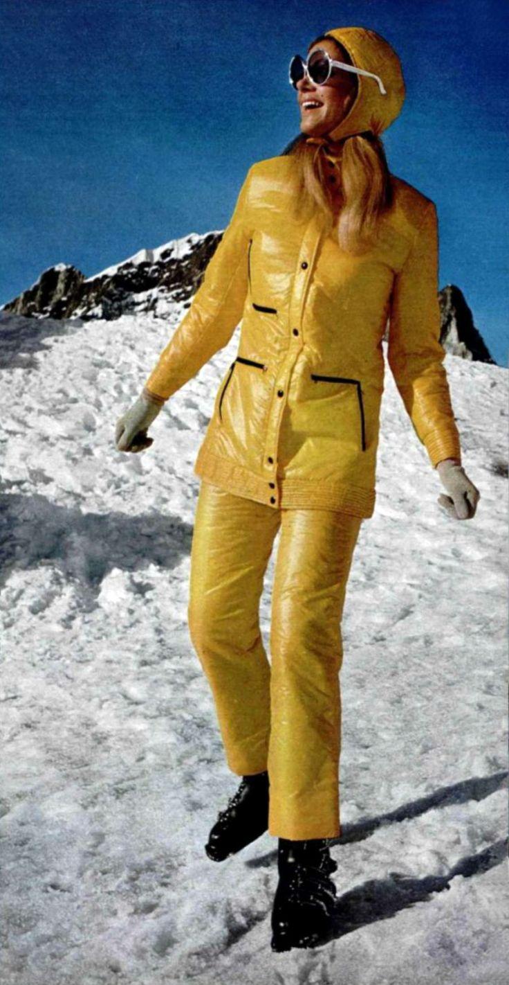 vintage ski fashion - L'officiel 1969