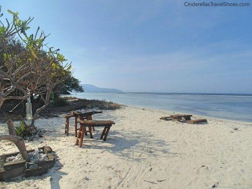 The local restaurant on the beach in Gili Trawangan