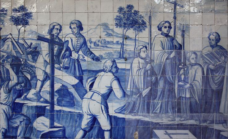 Barcelos | Igreja do / Church of Terço | Mestre P.M.P. / Master P.M.P. | 1713 #Azulejo #AzulejoDoMês #AzulejoOfTheMonth #Trabalho #Labour #Barcelos