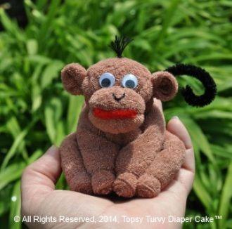 Washcloth Monkey   YouCanMakeThis.com