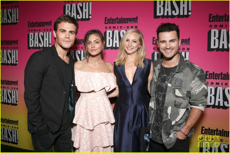 Paul Wesley, Phoebe Tonkin, Candice King and Michael Malarkey at the Entertainment Weekly's Comic-Con Bash 2016