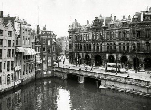 Gezicht op west Nieuwland te Rotterdam. Nederland, omstreeks 1932.