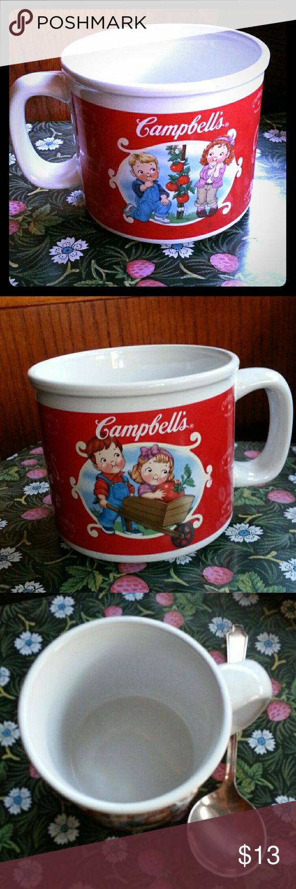 Campbell Soup Mug Hot Chocolate Cup Coffee Lovely in great condition.  Looks new. Super cute !!!  Perfect as a gift for Christmas our any occasion. Campbell Soup Company Other