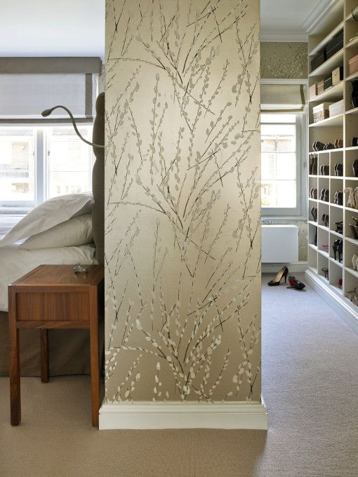 How to create a master walk-in closet when you don't have a closet!!  photos by Clare Gaskin Interiors