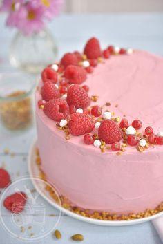 Gâteau chocolat framboises