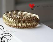JUMBO - Cobra Stich Jelly bracelet -Plastic lace bracelet - BOLD and Gold Chain Bracelet -Craft lace