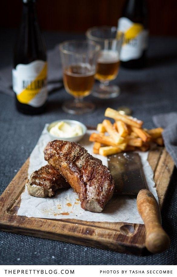 Steak & Chips with Garlic Mayonnaise