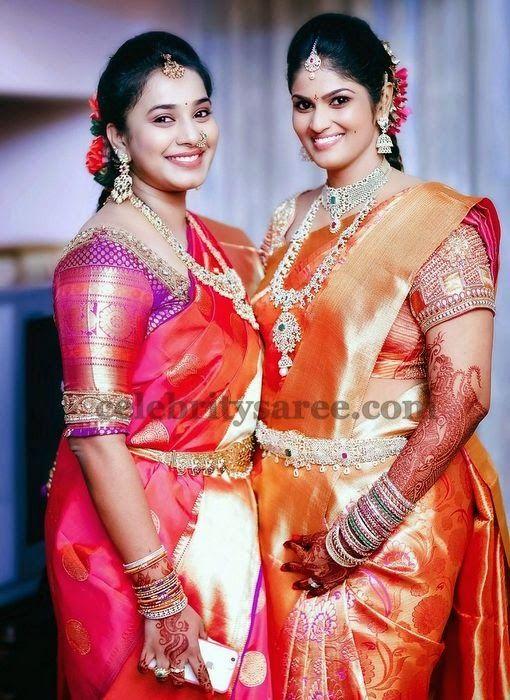 Kanjivaram Sarees with Blouses | Saree Blouse Patterns