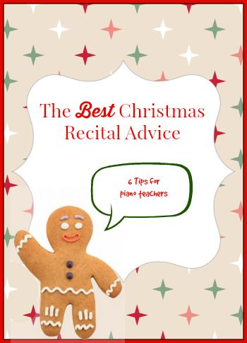 Christmas Recital Prep/ Christmas music incorporated into the lesson plan through the season