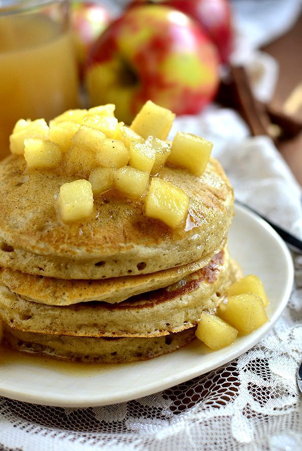 Apple Cider Pancakes with Maple Cider Syrup (10 Great Pancake Recipes To Make This Weekend!)- These Fall favorite Apple Cider Pancakes with Maple Cider Syrup are light and fluffy with a warming spiced-apple flavor.